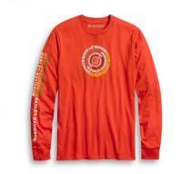 メンズ・スパイラルグラフィックL/S Tシャツ
