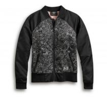 ALLOVER PRINT SKULL BOMBER JACKET