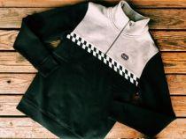 Men's Slim Fit Race Stripe Slim Fit 1/4-Zip Pullover