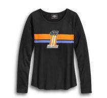 T-krekls #1 Striped, sieviešu