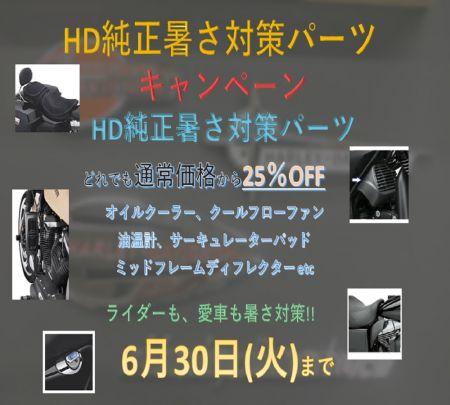6月のカスタムパーツキャンペーン!