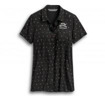 ALLOVER PRINT TIE-FRONT SHIRT